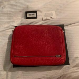 Alexander Wang red clutch